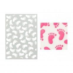 A6 Stencil Baby Feet