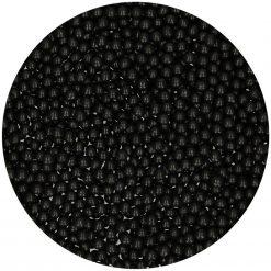 FunCakes - Suikerparels 4mm - Zwart Glans