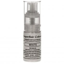 SugarFlair - Pump Spray Glitter Dust - White
