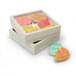 Sweet Sugarbelle - Four Cookie Box - White with Gold Dots