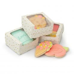 Sweet Sugarbelle - Single Cookie Box - White with Gold Dots