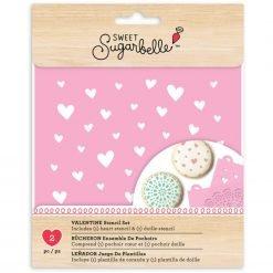 Sweet Sugarbelle - Stencil - Hearts & Doily