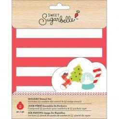 Sweet Sugarbelle - Stencil - Stripe & Scattered Dot