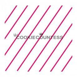 The Cookie Countess - Diagonal Thin Stripes