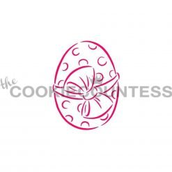 The Cookie Countess - Easter Egg With Bow PYO