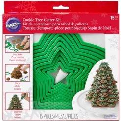 Wilton - Christmas Cookie Tree Cutter Set/15