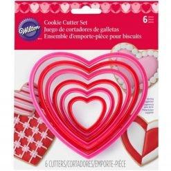 Wilton - Cookie Cutter Nesting Heart Set/6