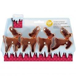 Wilton - Cookie Cutter Reindeer Set/4