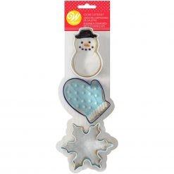 Wilton Cookie Cutter Snowman-Mitten-Snowflake Set/3