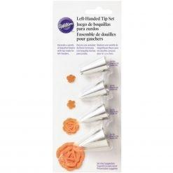 Wilton Decorating Tip Set Left Handed #106L, #59L, #97L, #116L