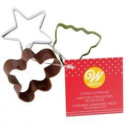 Wilton - Mini Cookie Cutter Set Christmas Set/3
