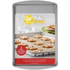 Wilton Semi-Disposable Tin Cookie Sheet Xmas pk/2
